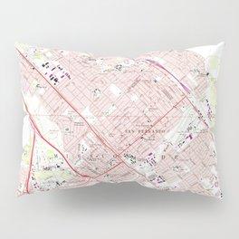 Vintage Map of San Fernando California (1966) Pillow Sham