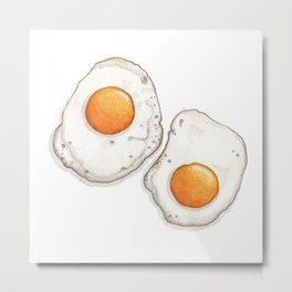 Breakfast & Brunch: Eggs Metal Print