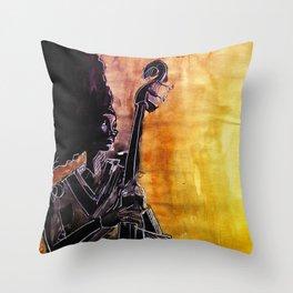 Make Coffee Love and Jazz Throw Pillow