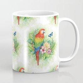 Scarlet Macaw - tropical rainforest illustration Coffee Mug