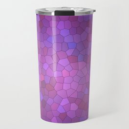 Abstract Stained glass violet mosaic Travel Mug
