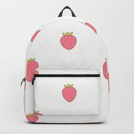Kawaii Cute Strawberry Print Backpack