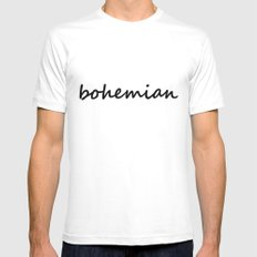 bohemian (1) Mens Fitted Tee White MEDIUM