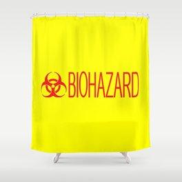 HAZMAT: Biohazard (Red & Yellow) Shower Curtain