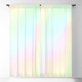 Pale Pastel Abstract Design Blackout Curtain