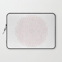 Royal Burgundy Rose Gold Marble Mandala Laptop Sleeve