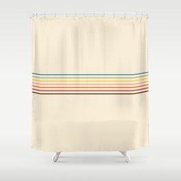 Yoshikage - Classic Fine Line Retro Stripes Shower Curtain