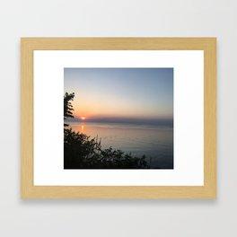 Sunset on the Lake Framed Art Print