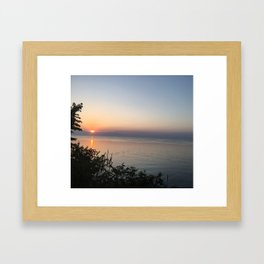 Sunset on the Lake Framed Art Print