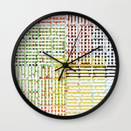 Color field forever handdrawn pattern Wall Clock