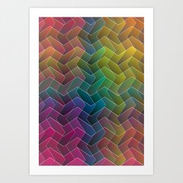 Zigzag & Zigzag 2 Art Print