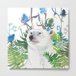 fern bear Metal Print