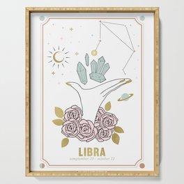 Libra Zodiac Series Serving Tray