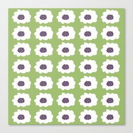 Mod Floral Green Canvas Print