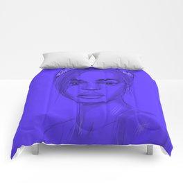 Joan in purple Comforters