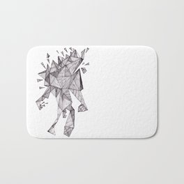 Robot trapped in triangles Bath Mat