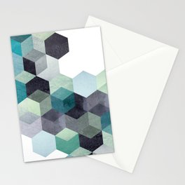 ABSTRACT GEOMETRIC COMPOSITION III Stationery Cards