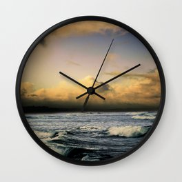 Ocean - Waves - Beach - Sea - Clouds Wall Clock