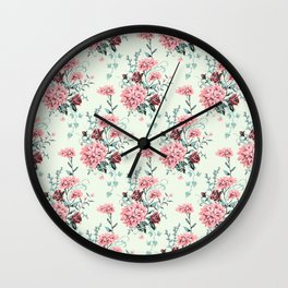 5 Point Floral in Green Wall Clock