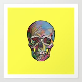 The Happy Skull (Yelow) Art Print