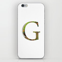 "Initial letter ""G"" iPhone Skin"