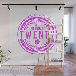D20 Be a Natural Twenty Pin Wall Mural