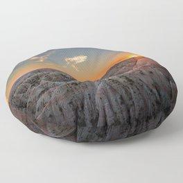 South Dakota Sunset - Dusk in the Badlands Floor Pillow