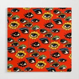 60s Eye Pattern Wood Wall Art