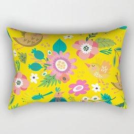 The yellow vision of the little bird Rectangular Pillow