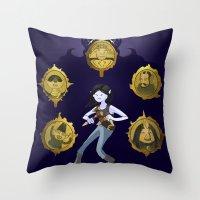 marceline Throw Pillows featuring Marceline v1 by Pablo González Mora