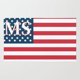Mississippi American Flag Rug
