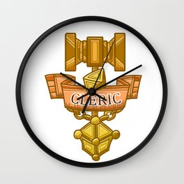 Cleric Hammer, d8 and Lantern Coat of Arms Wall Clock