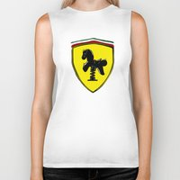 ferrari Biker Tanks featuring Ferrari cute by le.duc