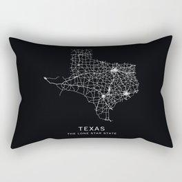 Texas State Road Map Rectangular Pillow