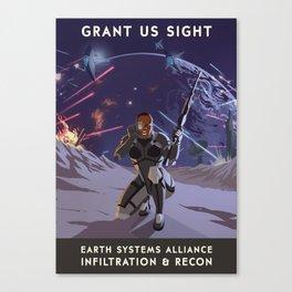 Mass Effect 3- Infiltrator Propaganda Canvas Print