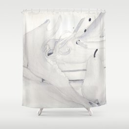 Jawline (Close Up) Shower Curtain