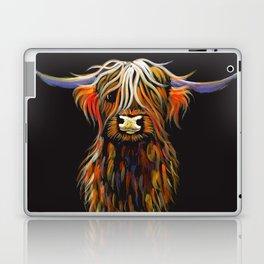 Scottish Highland Cow ' STEWART ' by Shirley MacArthur Laptop & iPad Skin