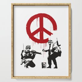CND soldiers 2005 - Banksy Graffiti Serving Tray