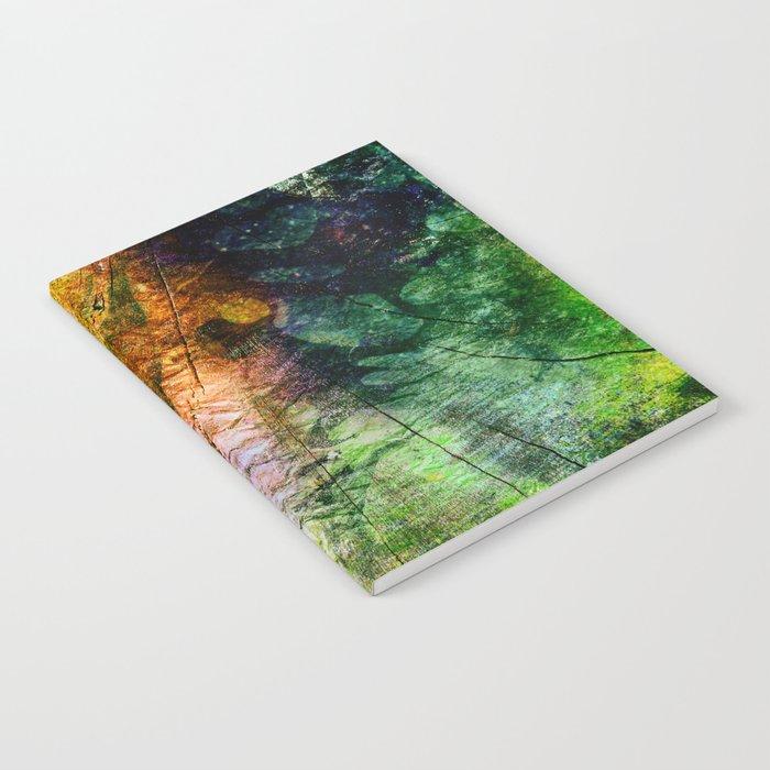 ink in wood Notebook
