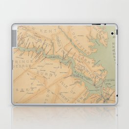 Vintage Map of The James River (1899) Laptop & iPad Skin