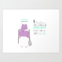 Toilet Lady (Mama Agnese) Art Print