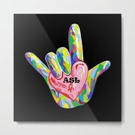 I Heart ASL Metal Print