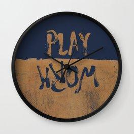 Work/Play Wall Clock