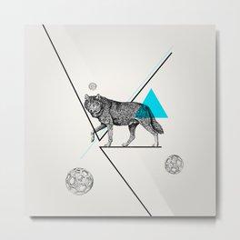 Mr. Wolf Metal Print