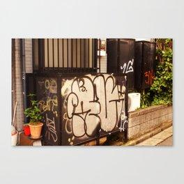 Window Box Graffiti Tokyo Canvas Print