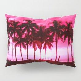 Pink Summer Palm Trees Pillow Sham