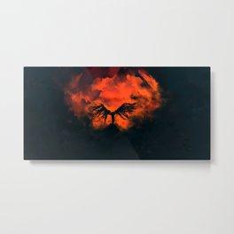 Holy Burning Metal Print