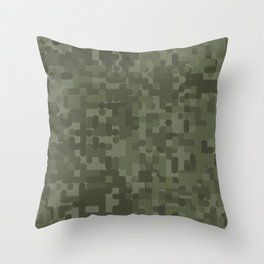 Digital Camo Throw Pillow