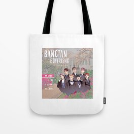 Bangtan Boyfriend Dating Sim Tote Bag