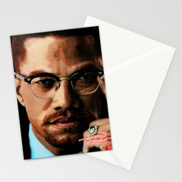 Malcome X in color. Stationery Cards